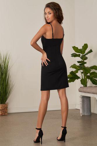 back_In The Beginning Black Mini Dress