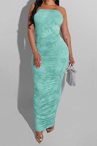 front_Lilly Elma Green Bodycon Tube Dress
