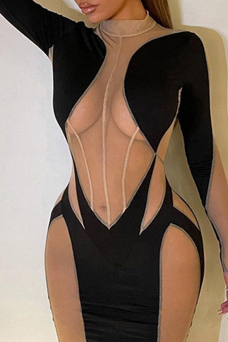 front_Dominica Eunice Colorblock Dress