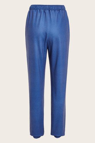 back_Mid Waist Letter Print   Blue Sweatpants
