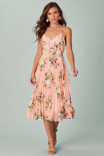 front_Pretty in Pleats {Color} Midi Dress