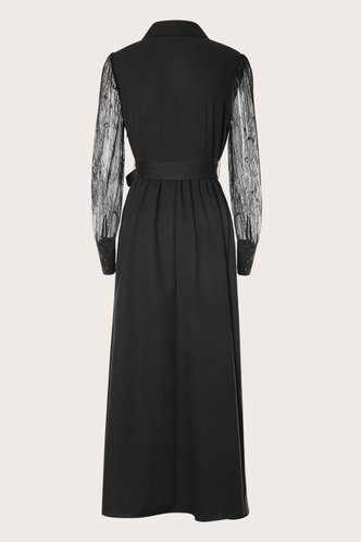 back_Run Away With Me Black Sheer Sleeve Maxi Dress
