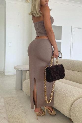 back_Beryl Elizabeth Khaki Set