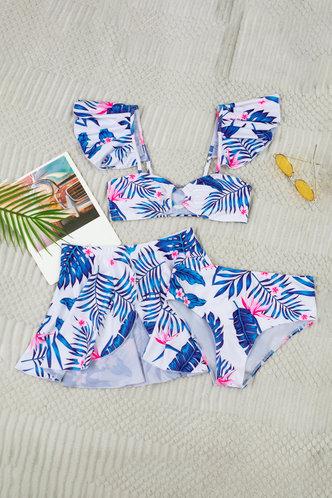 back_Bernice Elaine Tropical Print Bikini Set