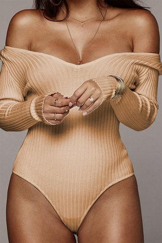 front_Gillian Eleanore Khaki Bodysuit
