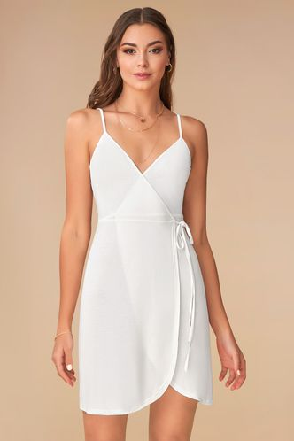 front_Butterfly White Mini Dress