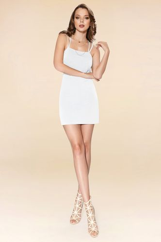 front_Your Days White Mini Dress