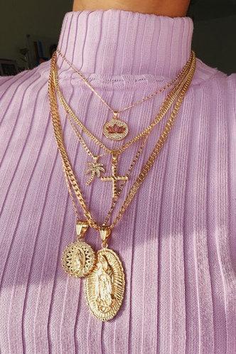 back_Rhinestone Sexy Gold Necklaces