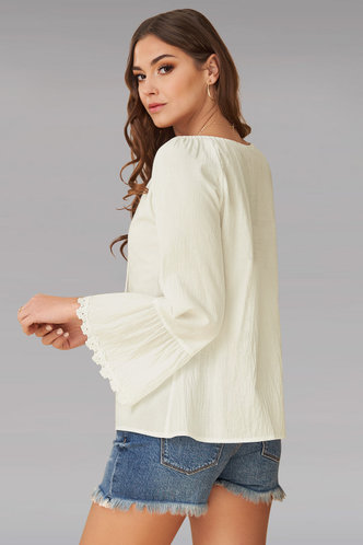 back_Garland Ivory Long Sleeve Top