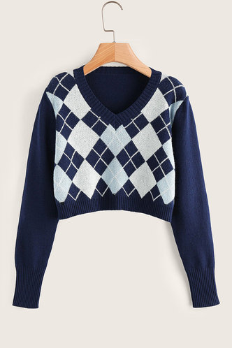 front_Anders Navy Blue Sweater