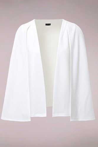 front_Yeah Right White Cape Blazer
