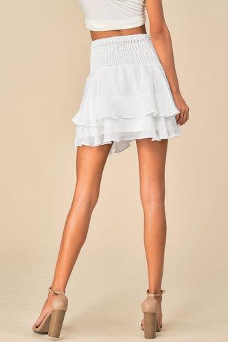 back_Gabrielle Elaine White Skirt