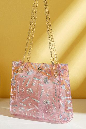 back_Eudora Horbek Pink Shoulder Bag
