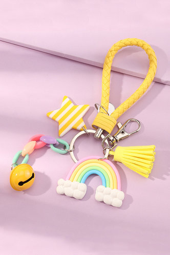 back_Alvira Ella Multicolor Star & Rainbow Charm Keychain
