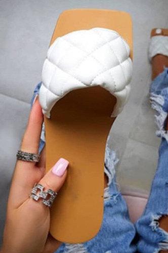 front_Hazel Pentrist White Slide Sandals