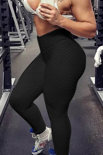 back_Angelina Eartha Black Activewear Bottom