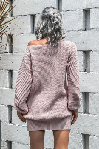 back_Napkin Pink Sweater Dress