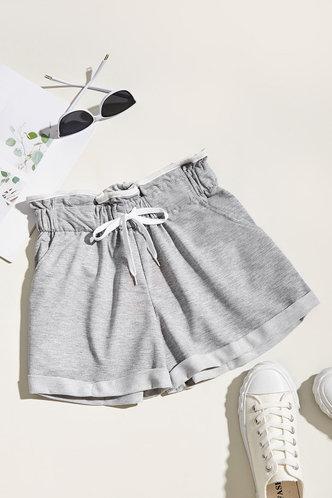 front_Dreama Grey Shorts