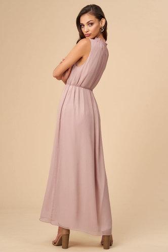 back_Heather Grey Pink Maxi Dress