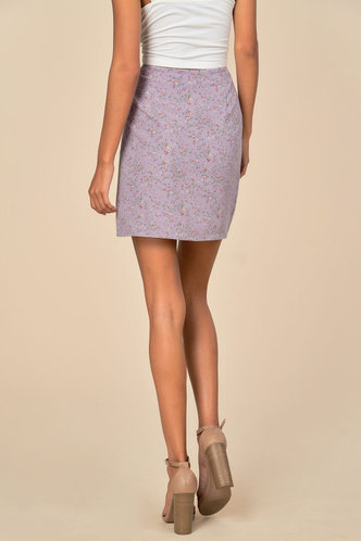 back_Ditsy Floral Split Skirt