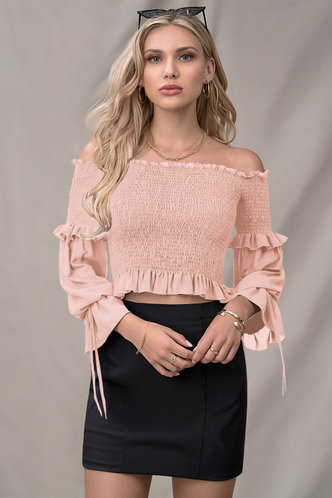 back_The Night Is Mine Dusty Rose Long Sleeve Top