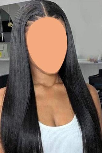 front_Plain Black Hair Accessories