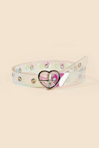 front_Phyllis Edith Transparent Heart Buckle Belt