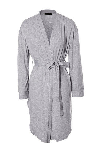 front_Sunday Mornings Light Grey Robe