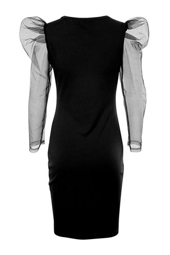 back_For The Night Black Bodycon Dress