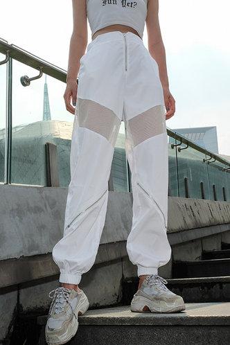 front_Valerie Elaine White Sweatpants