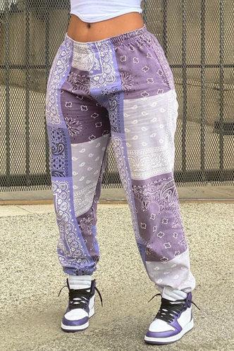 front_Honey Eve Colorblock Sweatpants