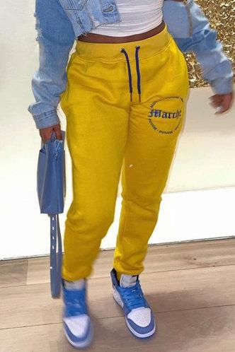 front_Brooke Eudora Yellow Sweatpants