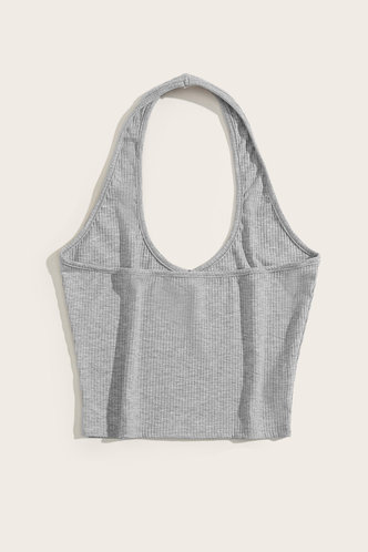 back_Dahlia Grey Halter Top
