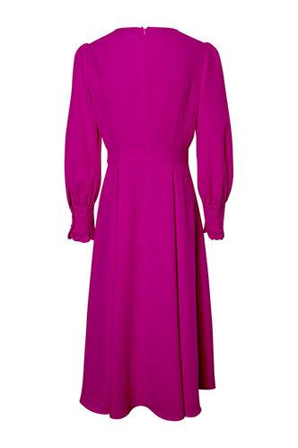 back_Princess Fuchsia Pleated Dress