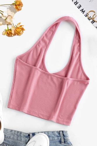 back_Dahlia Pink Halter Top
