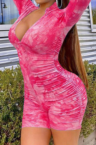 front_Eve Laget Pink Tie Dye Romper
