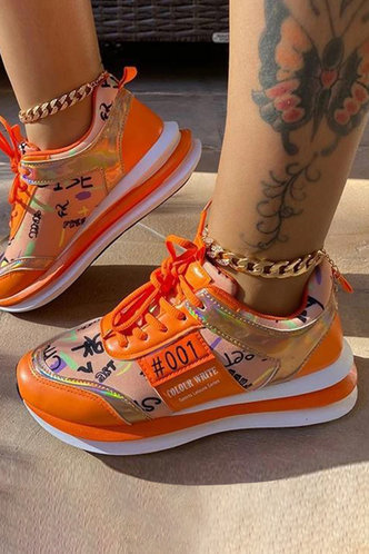 front_Susie Eudora Orange Sneaker