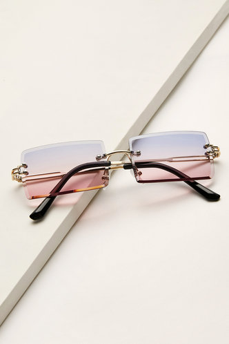 front_Summer Eleanore Purple And Pink Metal Frame Tinted Lens Sunglasses