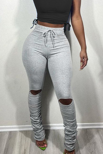 front_Hertha Eleanore Light Grey Pants