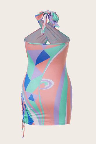 back_Ethel Klub Multicolor Plus Halter Cutout Front Dress