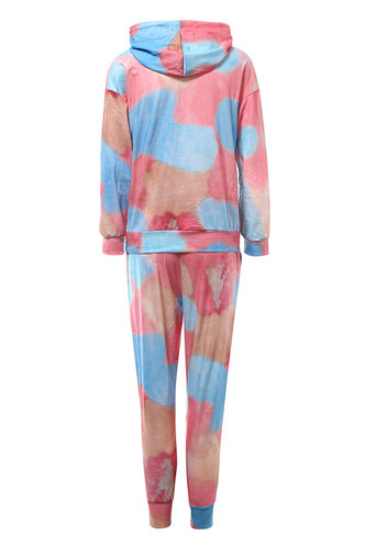 back_Down To The Wire {Color} Hooded PJ Set