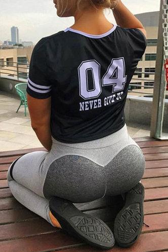 front_Angell Eden Grey Activewear Bottom