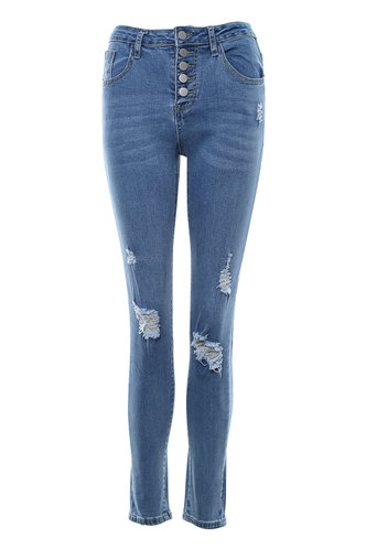 front_City Lights Blue Skinny Jeans