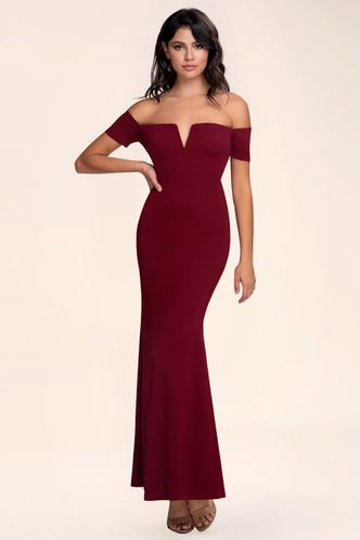 front_Kendall {Color} Off-The-Shoulder Maxi Dress