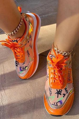 back_Susie Eudora Orange Sneaker