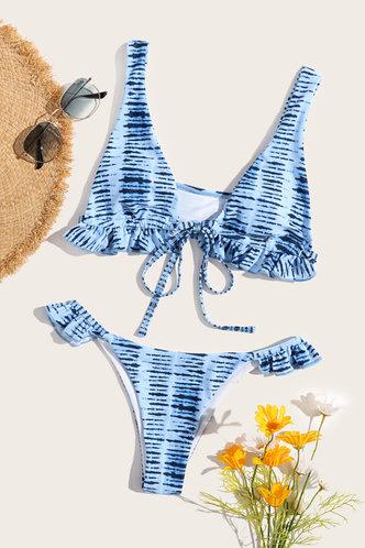 back_Karan Elaine Blue And White Bikini