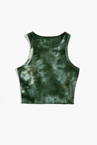 back_Alethea Edwina Green Tie Dye Crop Top