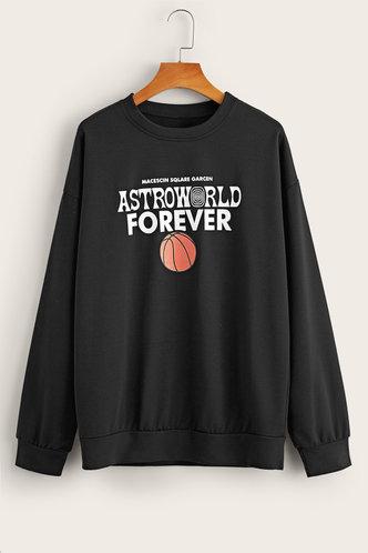 back_Dione Eartha Black Sweatshirt