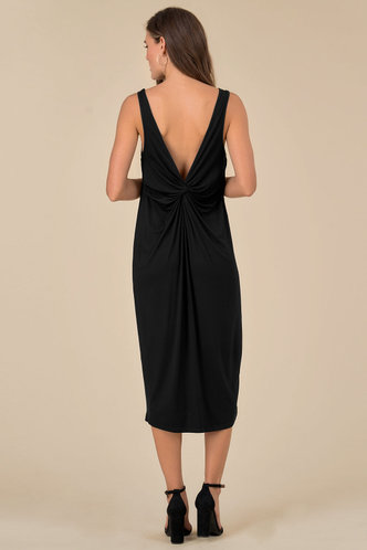 back_Alva Edwina Black Midi Dress