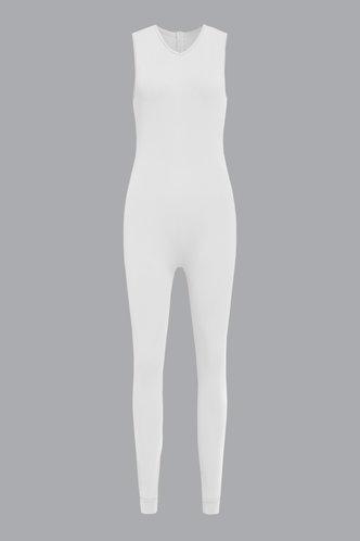 back_Estelle Evangeline White Jumpsuit